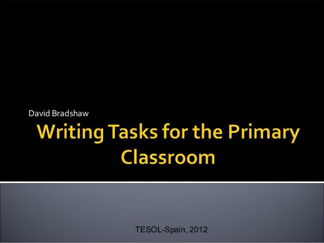 Writing tasks for the primary classroom(pdf)