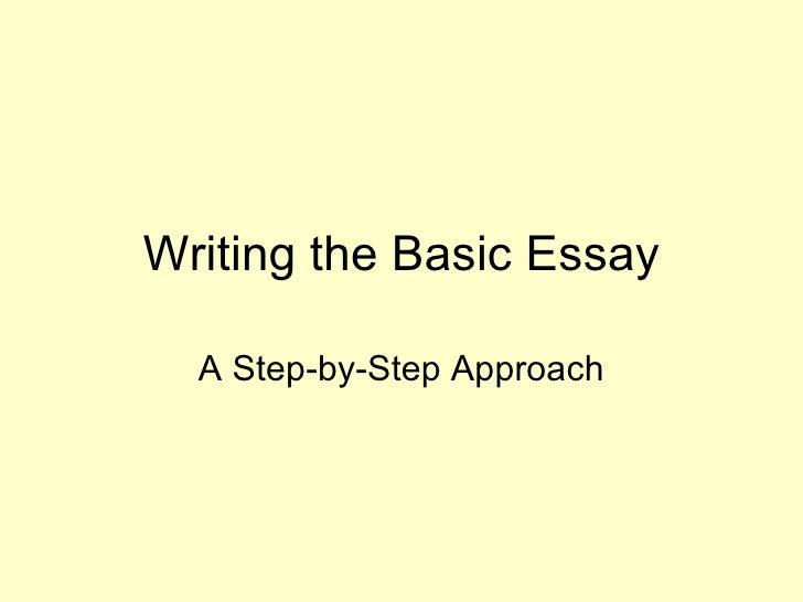 Writing The Basic Essay
