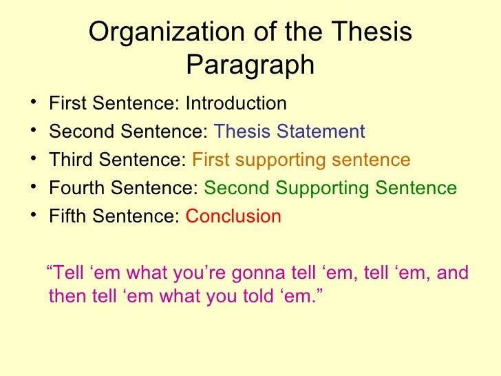 can a thesis statement be in the second paragraph Thesis generator thesis statement show the reader how this entire paragraph connects back to the thesis statement paragraph #2 the second point listed in.