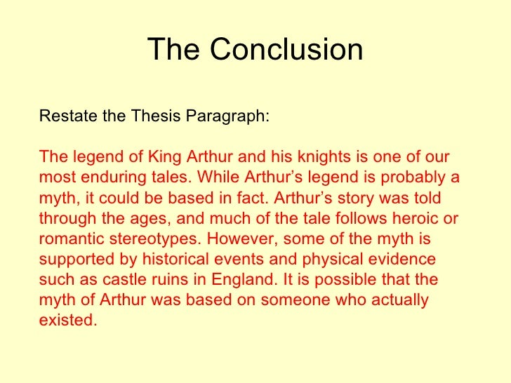 discussion and conclusion thesis