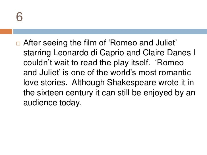 5 Paragraph Essay On Romeo And Juliet