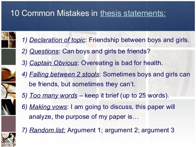 Thesis Statement For Friendship Essay