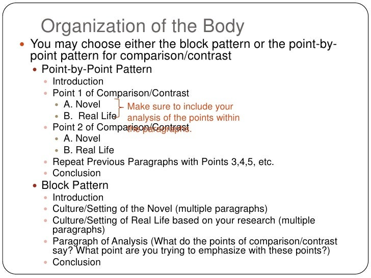 contrast point point essay