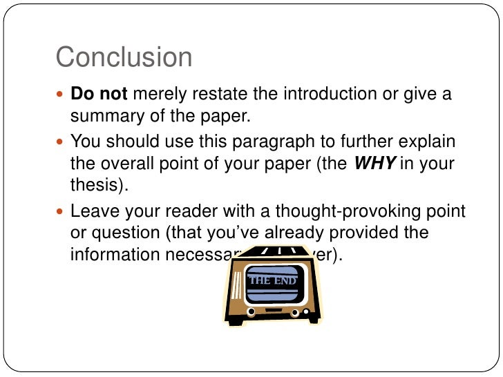 steps in writing the conclusion part of a research paper How to prepare a manuscript for international journals — part 2 step 5: write a clear conclusion state the purpose of the paper and research strategy.
