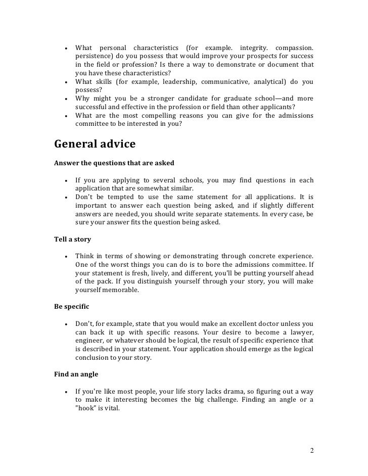 Personal Statement For Resume Examples Vosvetenet – Personal Statement Examples for Resumes
