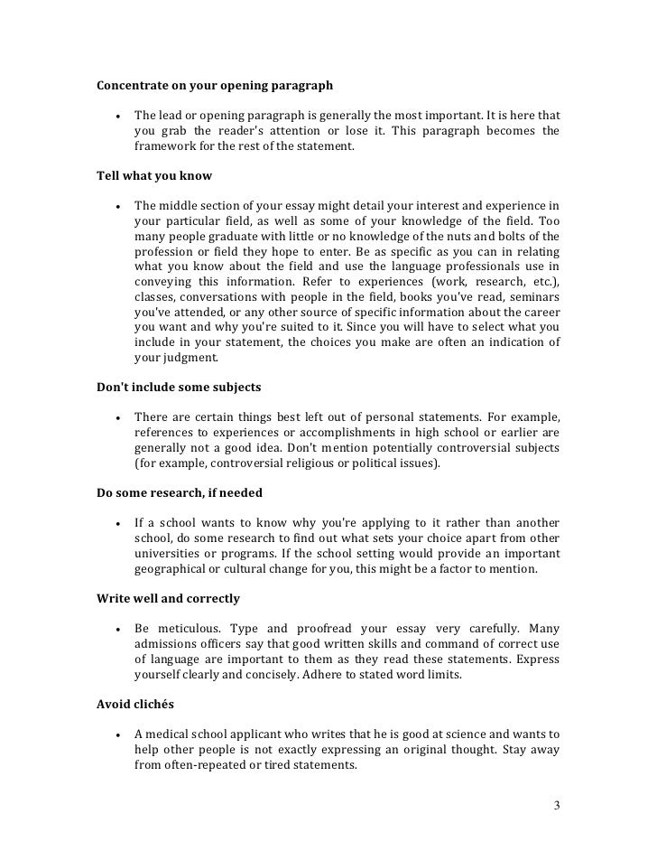 cv personal statement examples nz