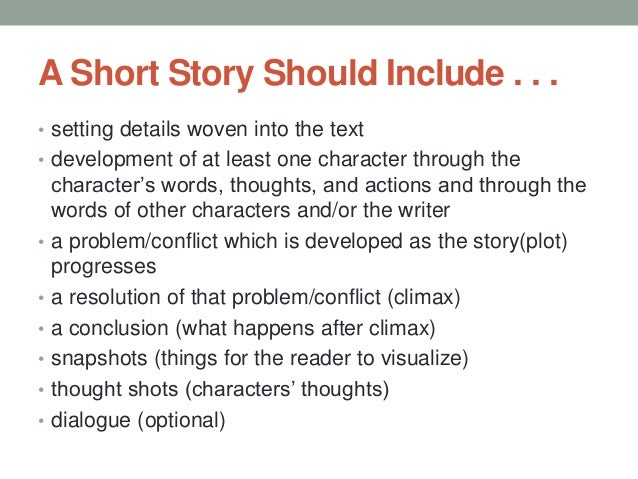 short story for essay