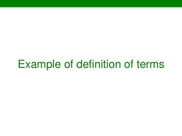 Thesis writing online definition of terms