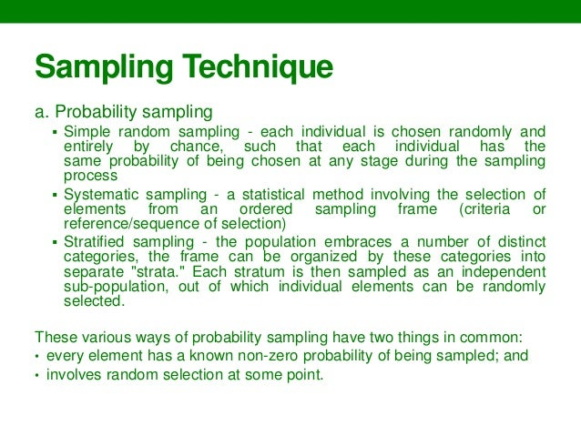 sampling techniques in thesis writing This thesis may not be reproduced in whole or in part, by photocopy or other means, without the however, the methods used to sample these dwellings are not generally a central research focus a sampling simulation of fish and shellfish), as this is a common analytical procedure when studying zooarchaeological.