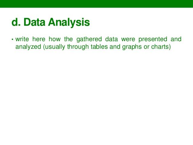 write data analysis section dissertation