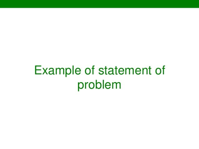 thesis chapter 1 statement of the problem Parts of chapter 1 of a research paper parts of chapter 1 introduction background of the study statement of the problem theoretical framework.