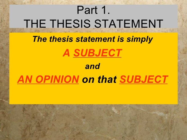thesis about english