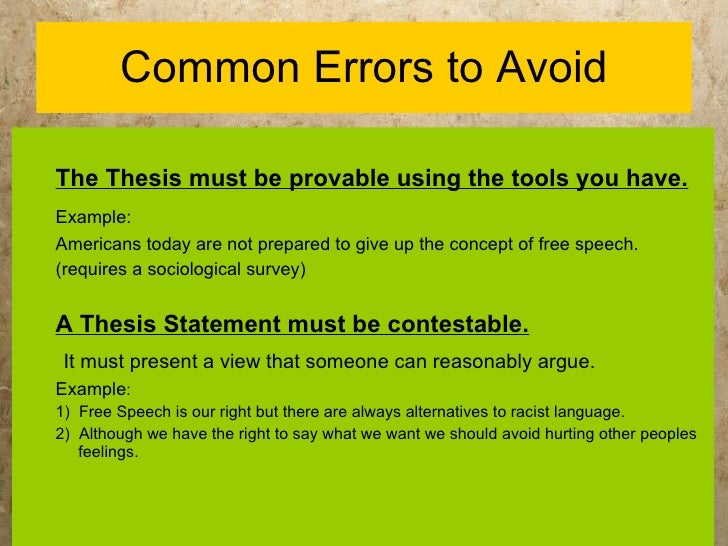 how to write a thesis for a speech