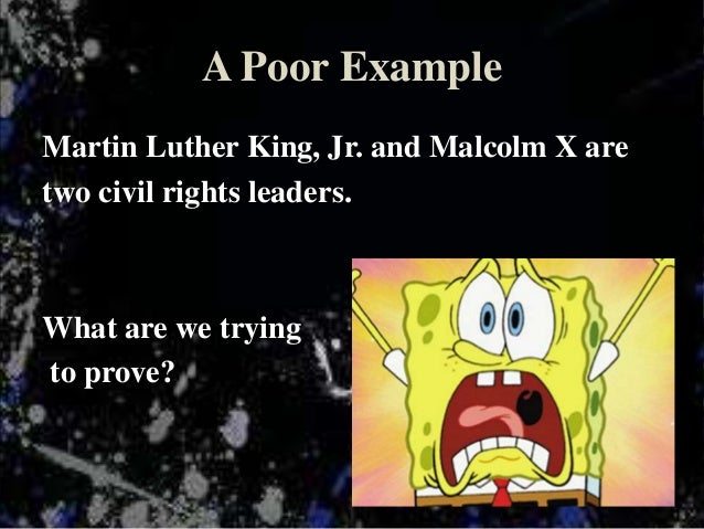 malcom x thesis Re-examining malcolm x daryl farrah san jose state university follow this  and additional works at:   this thesis is.