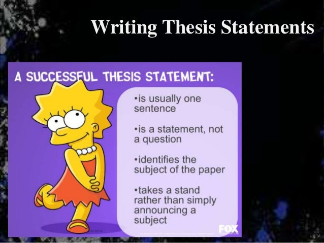 great expectations thesis statements In your thesis statement, you help shape your readers' expectations  readers  are busy people with a great many things competing for their.