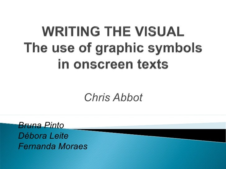Writing the visual