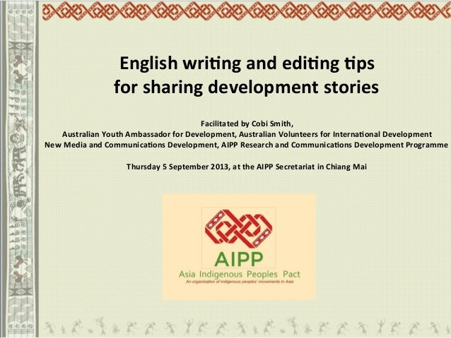 English writing and editing tips for sharing development stories