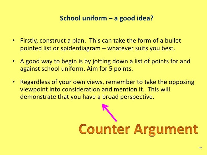 Any good ideas to support the persuasive topic: School uniforms are good.?