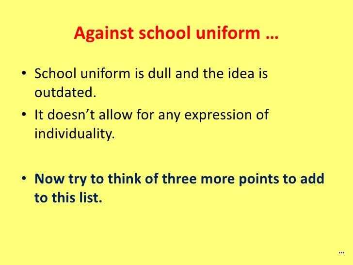 Help writing a argumentative essay school uniforms