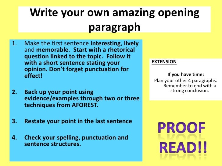 write your own question essay