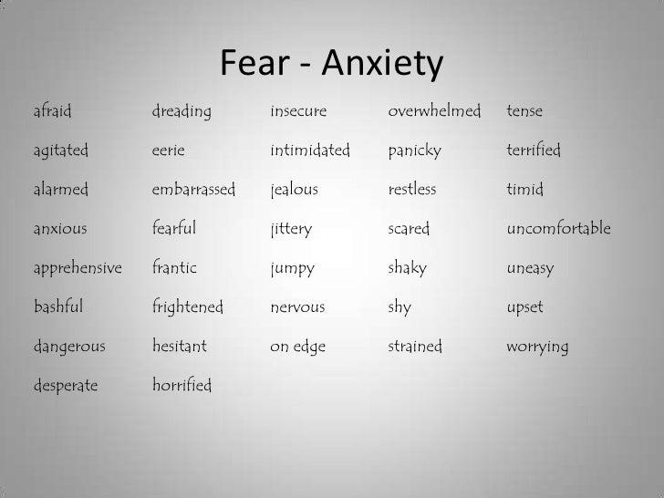 Descriptive essay on fear