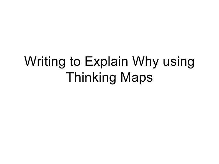 Writing to Explain Why using Thinking Maps