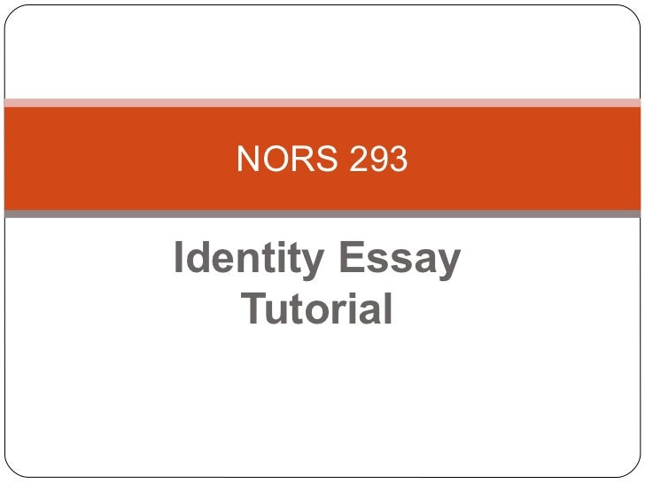 Writing tutorial for identity paper