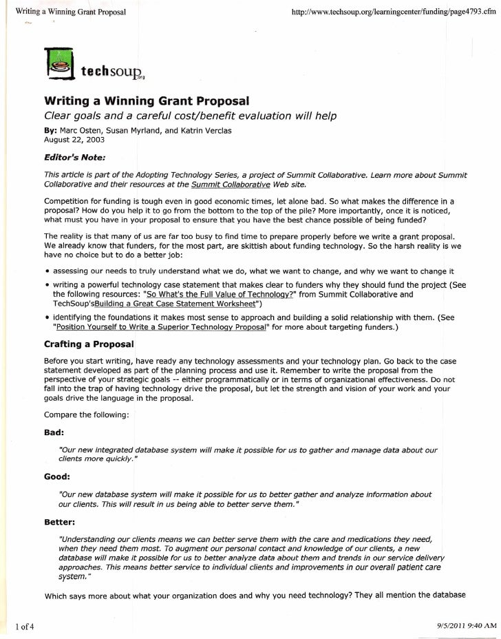 writing grant proposals This resource provides general guidelines for grant writing in general and in the scientific disciplines while grant proposals are almost always overseen by a.
