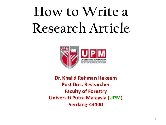 How to write a Wonderful Research paper