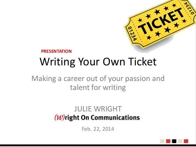 Finding a Writing Job
