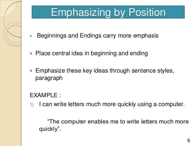 emphasizing a word in an essay