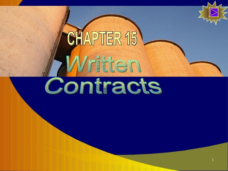 Written Contracts CHAPTER 15