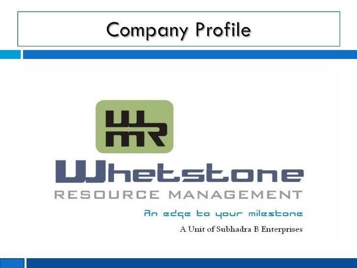 Whetstone Resource Management - Company Profile