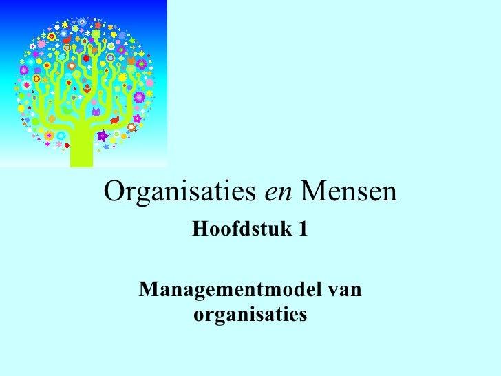 Organisaties  en  Mensen Hoofdstuk 1 Managementmodel van organisaties