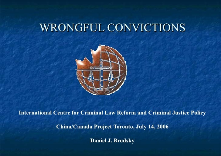 Wrongful conviction research paper
