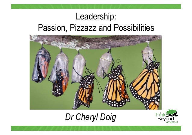 Dr Cheryl Doig Leadership: Passion, Pizzazz and Possibilities