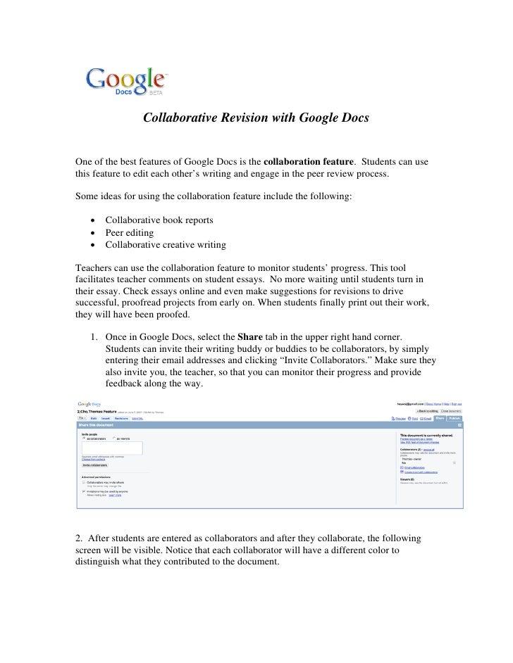 Revising in Google Docs