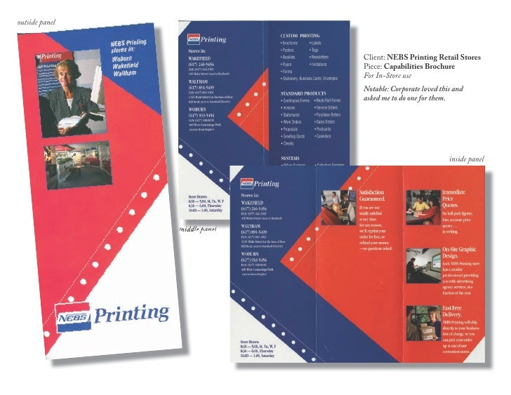 outside panel                                   Client: NEBS Printing Retail Stores                                Piece: ...