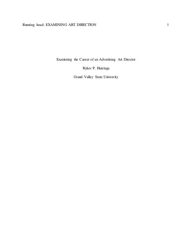 Research paper on advertising