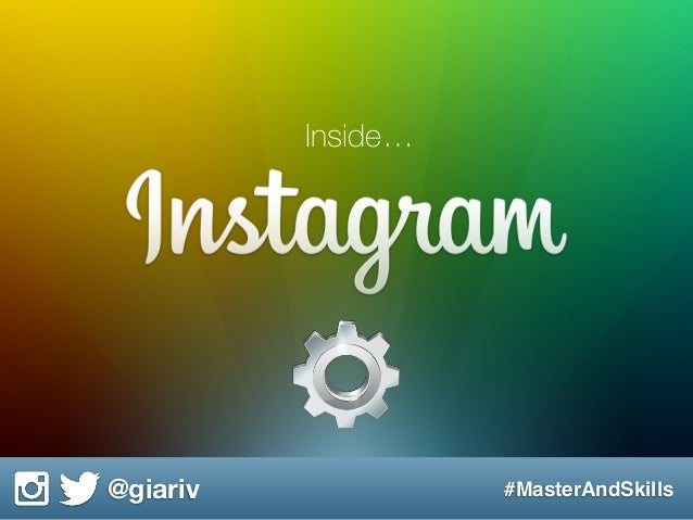 @giariv #MasterAndSkills Inside…