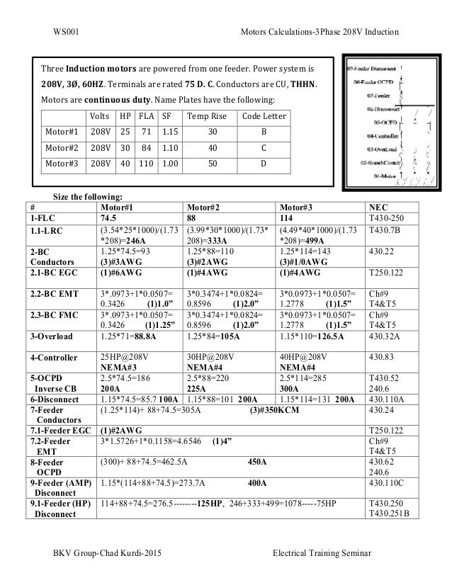 Ws001 motors calculations 3 phase 208v induction for 3 phase motor power calculation