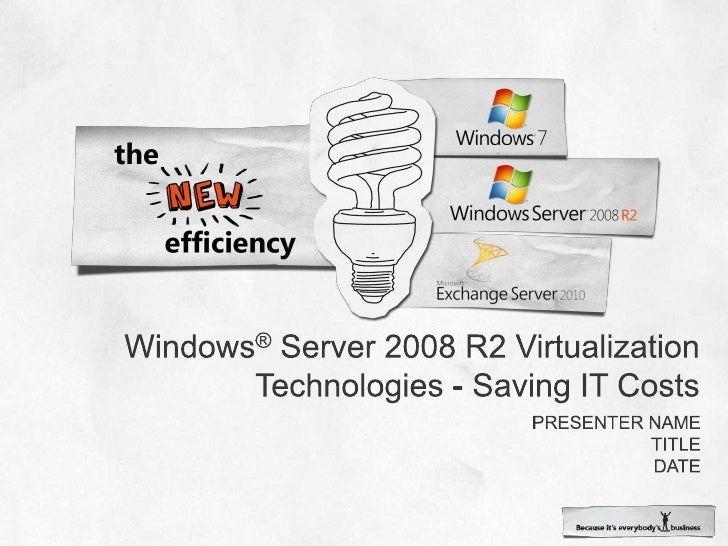 Windows® Server 2008 R2 Virtualization Technologies - Saving IT Costs<br />Presenter name<br />Title<br />date<br />