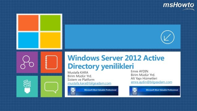 Windows Server 2012 Active Directory Yenilikleri