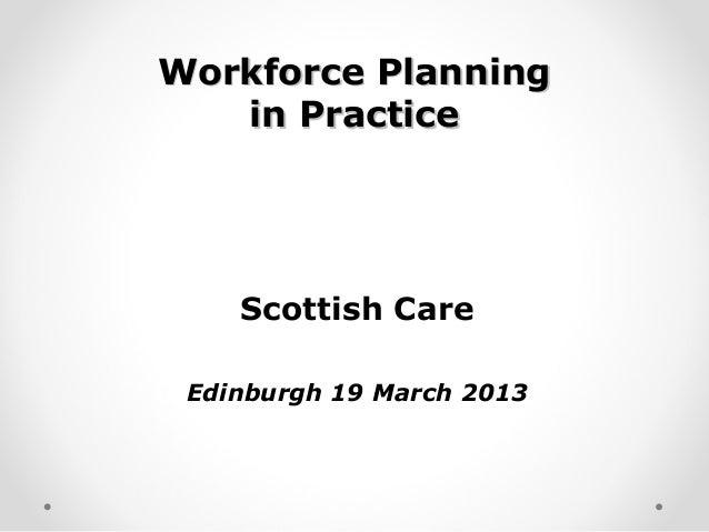 Workforce Planning in Practice (WS22)