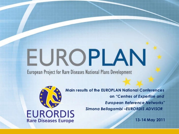 "Main results of the EUROPLAN National Conferences  on "" Centres of Expertise and  European Reference Networks "" Simona Bel..."