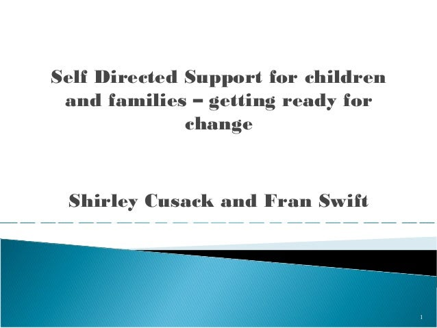 Self Directed Support for children and families (WS41)