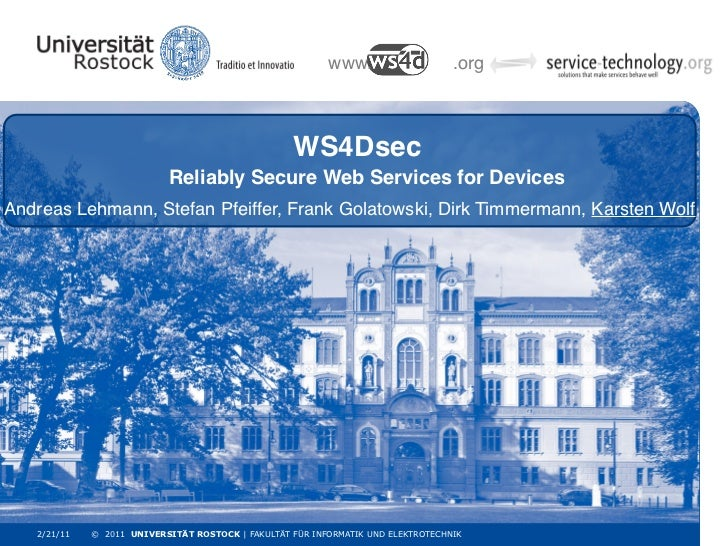 www.                    .org                                                   WS4Dsec                           Reliably ...