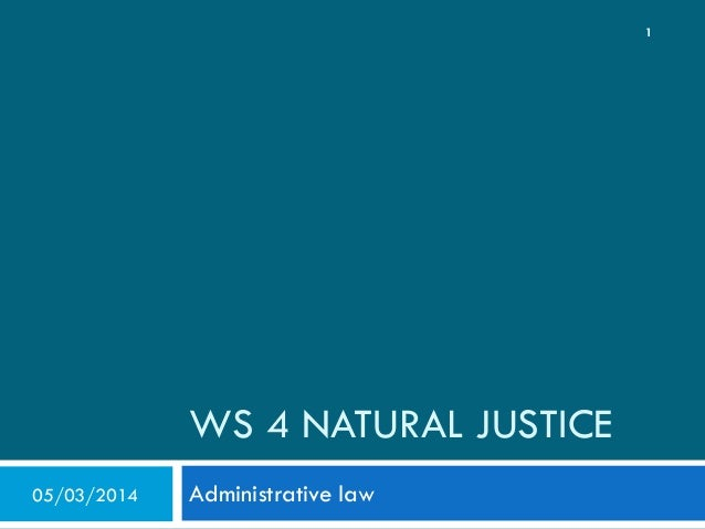 Natural Justice: The Rule Against Bias