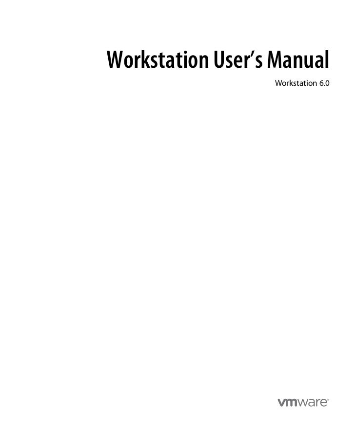 Workstation User's Manual                  Workstation 6.0
