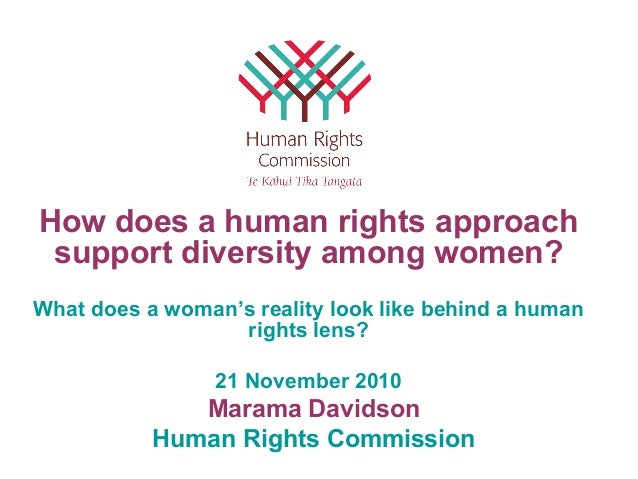 Marama Davidson Human Rights Commission How does a human rights approach support diversity among women? What does a woman'...